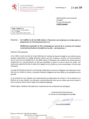 Modification ponctuelle du PAG Rue Kuelscheier