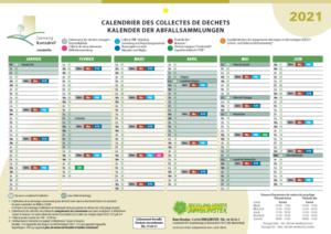 Calendrier déchets 2021