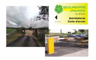 Accès au dépôt communal de déchets verts