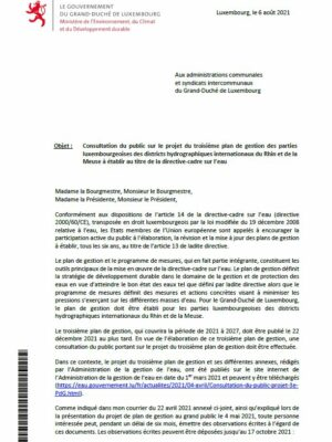 Mise en oeuvre de la directive-cadre sur l'eau CONSULTATION DU PUBLIC SUR LE PROJET DU TROISIEME PLAN DE GESTION